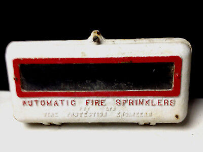 Vintage Industrial AUTOMATIC FIRE SPRINKLERS Cast Iron Cabinet Fire Protection