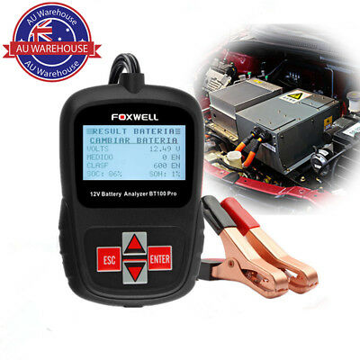 FOXWELL BT100 Pro 12V Digital Battery Analyzer 100-1100 CCA Battery Load Tester