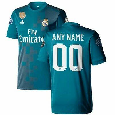 real madrid jersey with patches 17/18 custom, any name any number