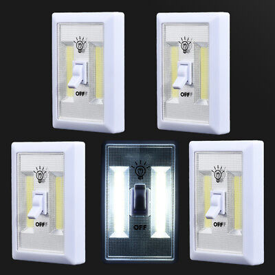 5 PCS COB LED Wall Switch Wireless Battery Operated Closet Cordless Night Light
