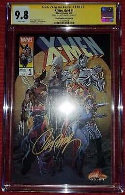 *signed J Scott Campbell* X-Men Gold 1 Cgc Ss 9.8 Variant Cover B Nm Mint 2017