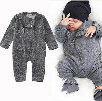AUStock Newborn Infant Baby Boy Girl Cute Sweater Romper Jumpsuit Clothes Outfit