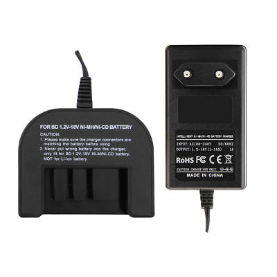 EU Pin Battery Charger Adapter for Black Decker 1.2V-18V Ni-MH Ni-CD Batteries