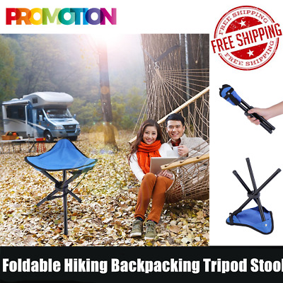 OUTAD Outdoor Foldable Hiking Backpacking Tripod Stool For Camping Fishing GT