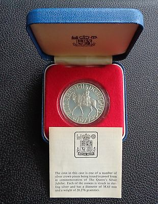 1977 Royal Mint Silver Proof Crown - The Queen's Silver Jubilee Boxed & COA