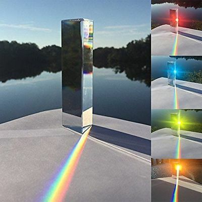 Optical Glass Triangular Prism Physics Teaching Reflected Light Spectrum