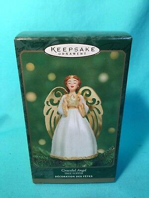 Hallmark Keepsake Ornament GRACEFUL ANGEL Tree Topper - Miniature Tree 2001- NIB