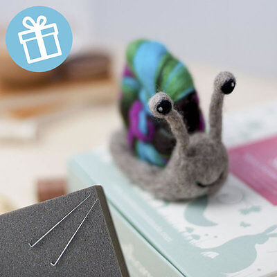 DELIGHTFUL SNAIL needle felt kit boxed with foam and colour instructions