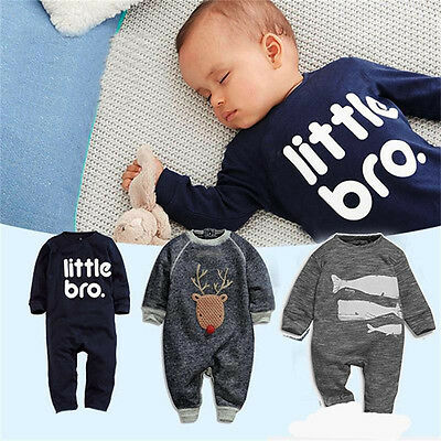 AU Newborn Baby Girl Boy Clothes Infant Bodysuit Romper Jumpsuit Playsuit Outfit