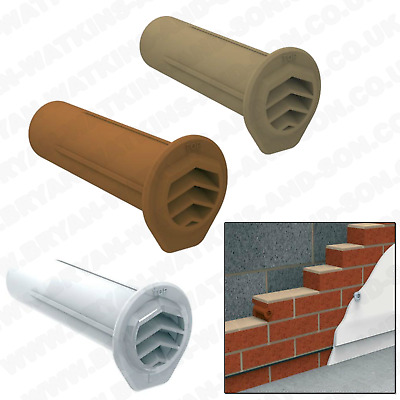5x Drill Weep Vents Round Refurb Vent Cavity, Retaining Wall, Rendered Walls