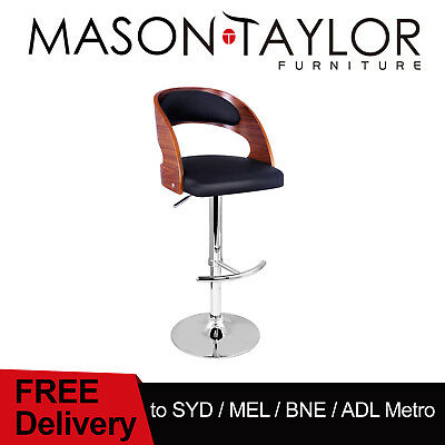 FREE DELIVERY(T&C) Wooden Bar Stool Timber Kitchen Dining Chair Barstool Padded
