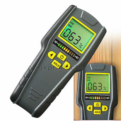 Non-Invasive Inductive Moisture Meter For Drywall Mansory Softwood & Hardwood