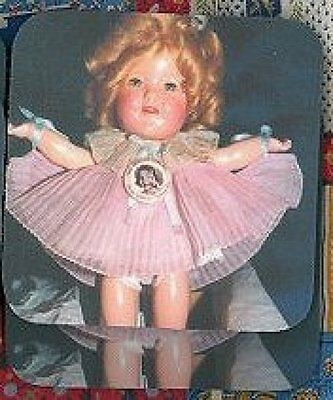 SHIRLEY TEMPLE DOLL Rubber Backed Coasters #0467