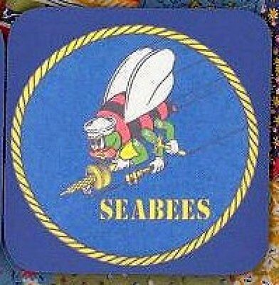 SEABEE SEABEES NAVY Rubber Backed Coasters #0166