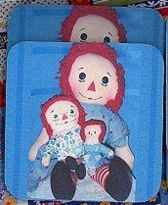 RAGGEDY ANN Rubber Backed Coasters #0459