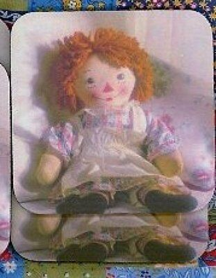 RAGGEDY ANN Rubber Backed Coasters #0774
