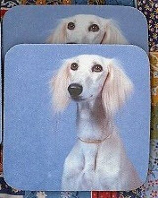 SALUKI Rubber Backed Coasters #1007