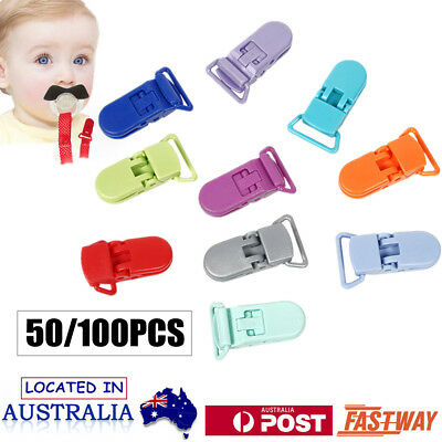50XPacifier Suspender Dummy Clips Holders for Teething Toys Baby Blankets Holder