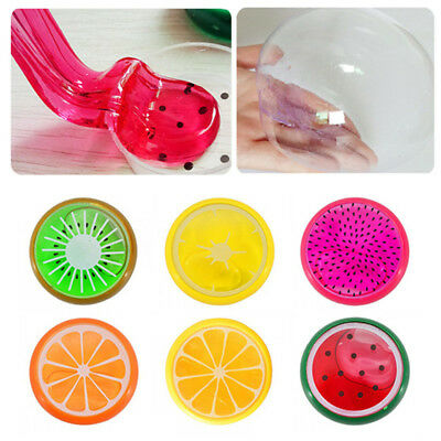 DIY Fruit Crystal Clay Putty Jelly Plasticine Mud Kids Non-toxic Slime Hand Toys