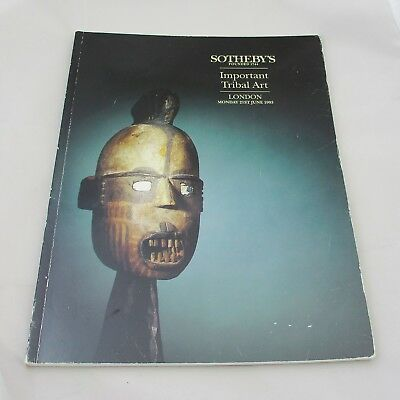 Sotheby's Auction Catalogue - Important Tribal Art 1993