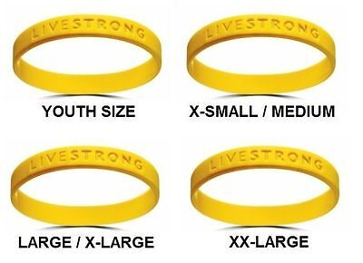 BRACCIALE unisex Nike Livestrong CICLISTA opi silicone wristband gold GIALLO ORO