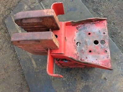 Vintage MF tractor front weights and carrier frame MF 35, 135, 148