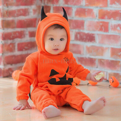 Halloween Baby Toddler Pumpkin Patch Boy Girl Fancy Dress Costume Outfit 6-12M