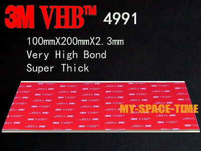 3M VHB #4991 Double-sided Acrylic Super Thick Foam Tape Automotive 100mm X 200mm