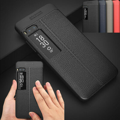 PU Faux Leather Patterned Soft TPU Bumper Protection Case Cover For Meizu Pro7