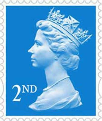 Royal Mail 2nd Class Stamp Blue New & Genuine