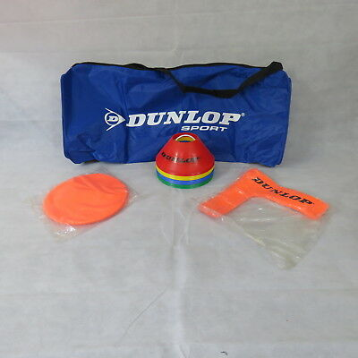 Dunlop AC Mini Tennis set and Cone Holder, With Bag
