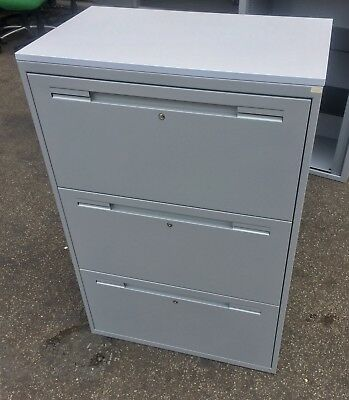 Metal 3-Drawer Lateral Filing Cabinets Storage Unit (2 Available)