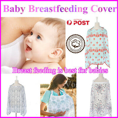 New 3 in1 Baby Breastfeeding Nursing Cover Generous Blanket  Breathable Cotton