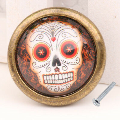Skull Closet Door Dresser Drawer Cabinet Cupboard Pull Knob Handle Decor #03