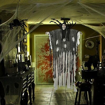 Halloween 6 ft animated halloween props voice activated for Animated halloween decoration