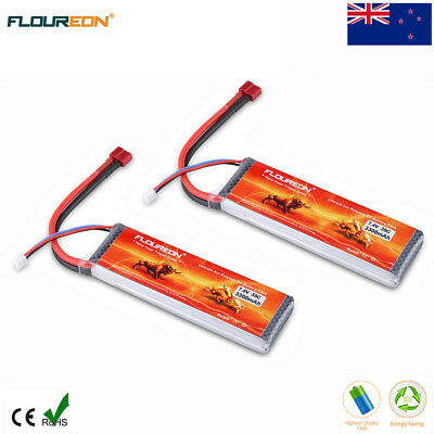 2x 2S 7.4V 3300mAh 35C LiPo Battery Deans for RC Car Airplane Helicopter Drone