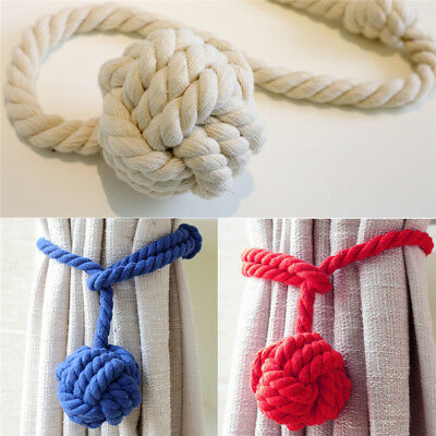 2 Natural cotton rope curtain tie back cord ties cable tieback Tieback HoldBacks