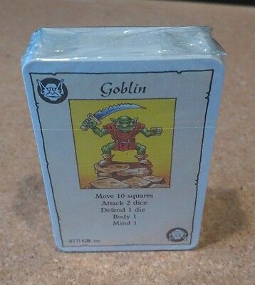 Heroquest Sealed Set of 64 Base Cards MB OOP Milton Bradley GW Hero Quest Spares