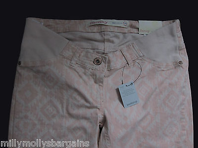 New Womens Pink Skinny NEXT Maternity Jeans Size 20 14 12 10 Long Regular RRP£32