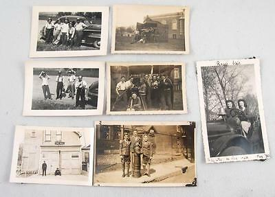 7 Vintage Photo Firefighter Related