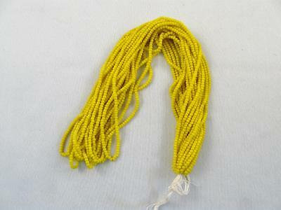Antique/vintage Hank Of Yellow Micro Seed Glass Beads