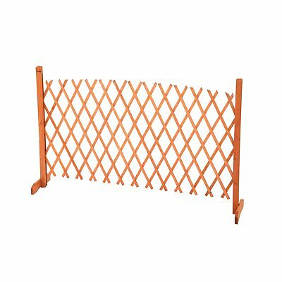 NEW! Arched Expanding Freestanding Wooden Trellis Fence Garden Screen