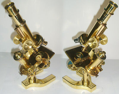 Gorgeous 1899 Bausch & Lomb Continental Antique Microscope Vintage