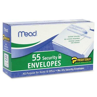 Mead Security Envelopes Self-Sealing No 6.7 55/BX White 75030