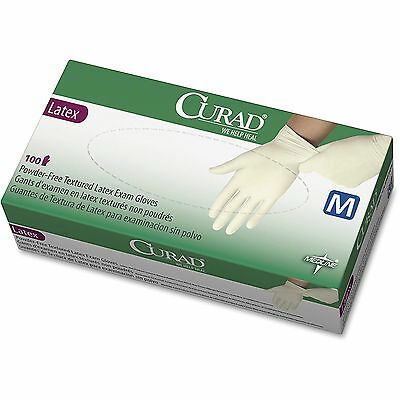 Medline Latex Exam Glove Powder Free X-Small 100/BX White CUR8103