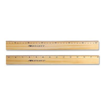 """Acme Wood Ruler Scaled in 16ths/Metric Double Brass Edge 18"""" L 05228"""