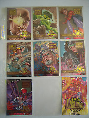 X Men Onslaught  Over Power Assault On  Onslaught  7 Sur 7 Chromium   1996Tbe
