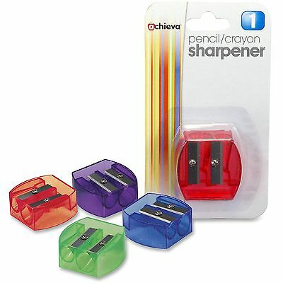"""Officemate Pencil/Crayon Sharpener 2-hole 1-1/4""""x5/8""""x1-1/4"""" AST 30230"""
