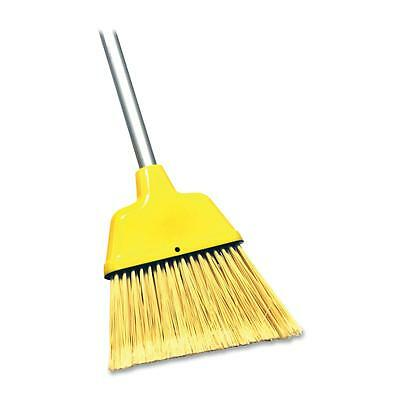 "Genuine Joe Angle Broom, High Performance Bristles, 9"" W, Yellow 58562"