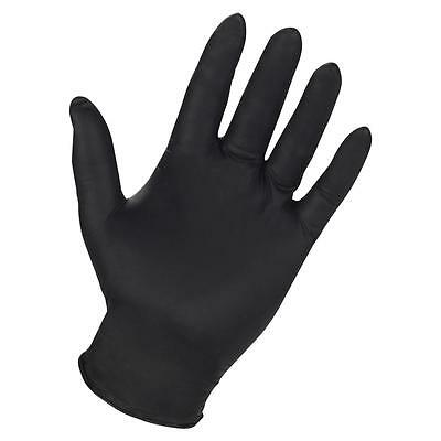 Genuine Joe Nitrile Gloves 6Mil Large 3/PK Black 15372